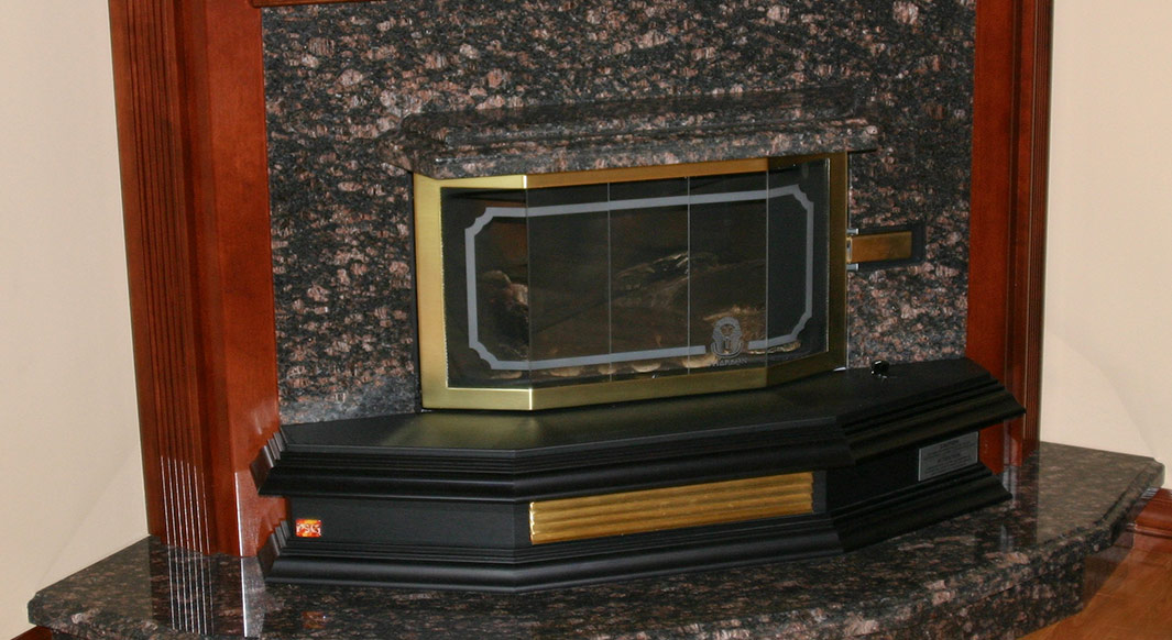 Tan Brown Granite Fireplace Hearth & Surround