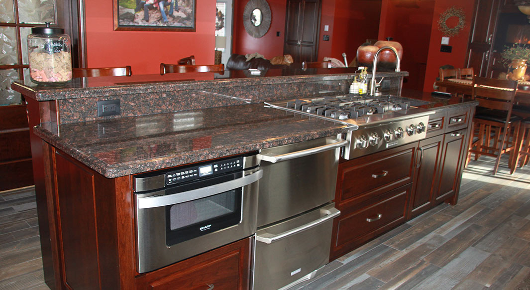 Awe Inspiring Tan Brown Granite Ogee Edge Profile Northern Marble Download Free Architecture Designs Embacsunscenecom