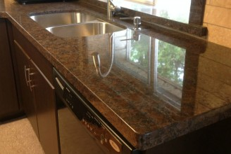 Coffee Brown Granite - Flat Eased Edge Profile