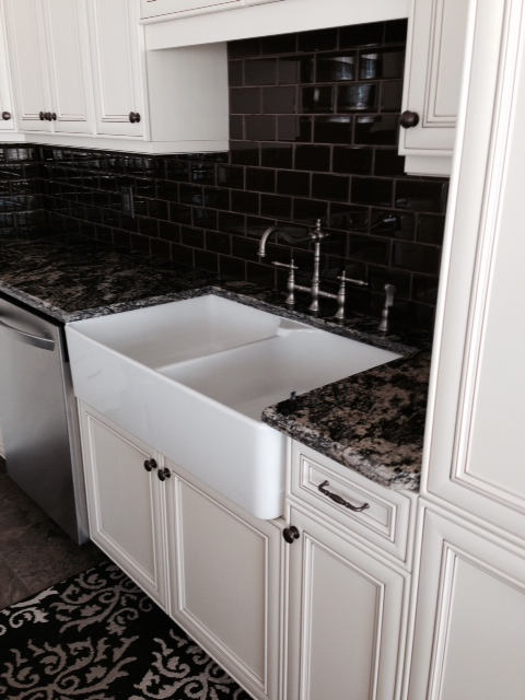 Golden Lumiere Granite with Waterfall Edge Profile