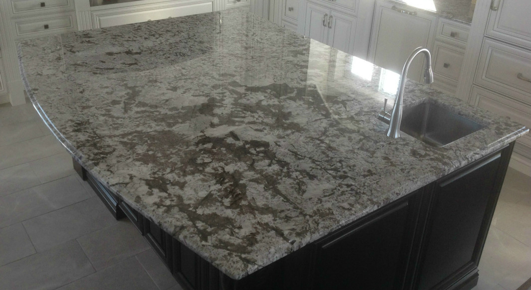 Bianco Antico Granite with Ogee Edge Profile