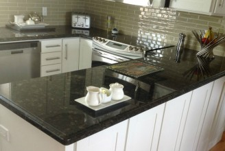 Suede Dark Granite - Ogee Edge Profile