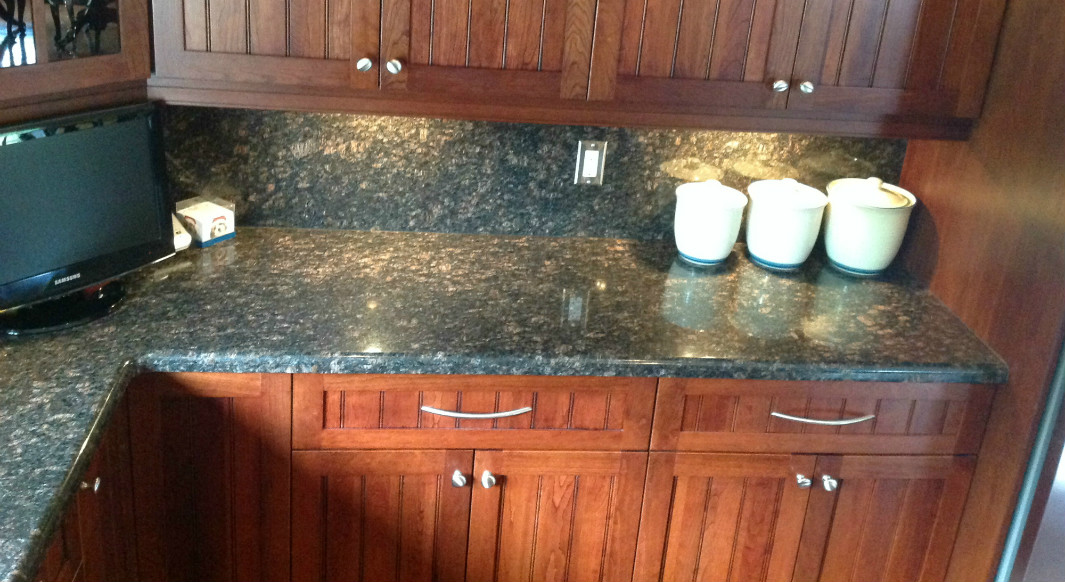 Tan Brown Granite - Waterfall Edge Profile