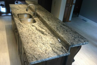 Coral Gold Granite with 3/8
