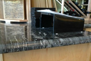 Silver Paradiso Granite with Large Waterfall Edge Profile