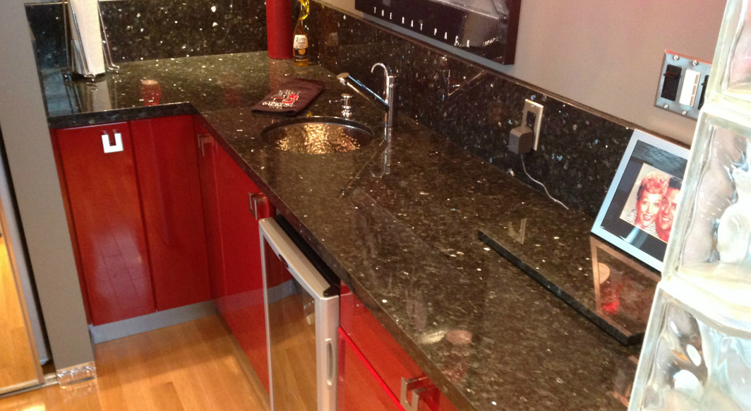 Emerald Pearl Granite with Flat Eased Edge