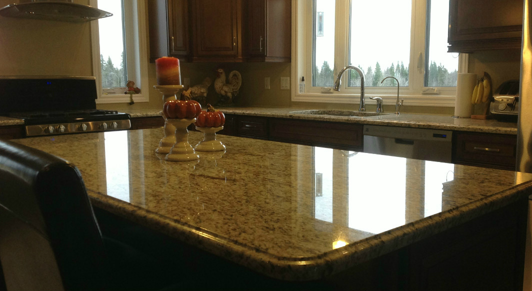 Giallo Ornamental Light Granite with Ogee Edge Profile