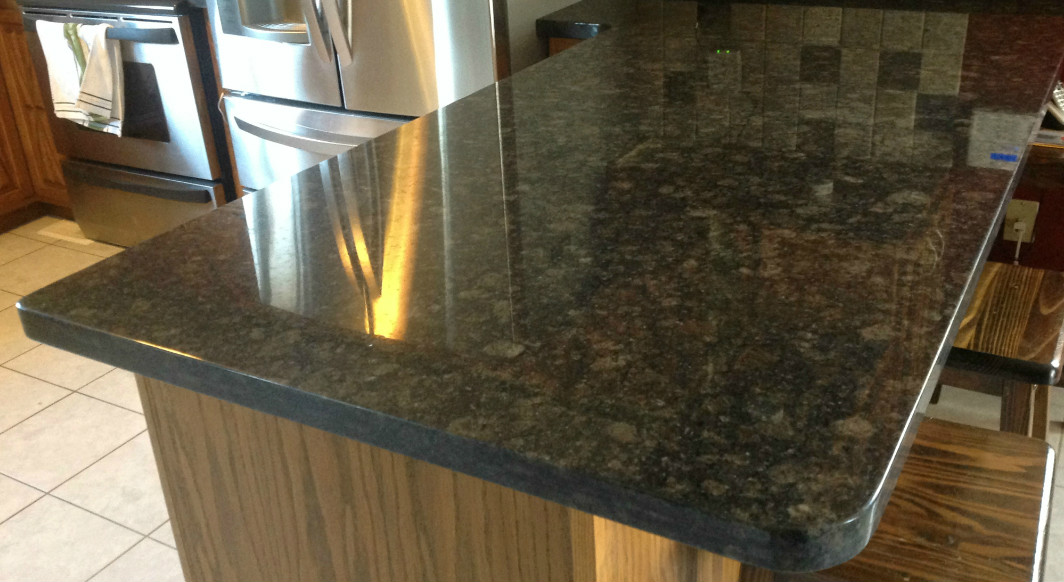 Suede Brown Granite with Flat Eased Edge Profile