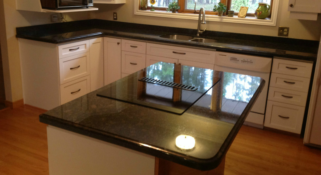 Suede Brown Granite with Ogee Edge Profile