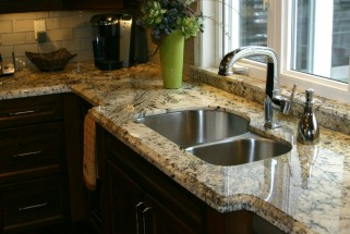 Colonial Treasure Granite with Ogee Edge & Custom Window Sill
