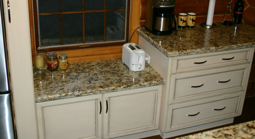 Giallo Napoli Granite with Waterfall Edge Profile