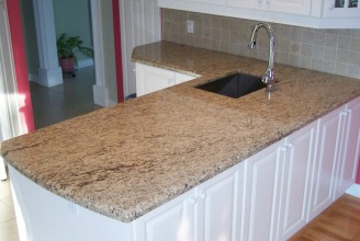 Giallo Ornamental on White Cabinets