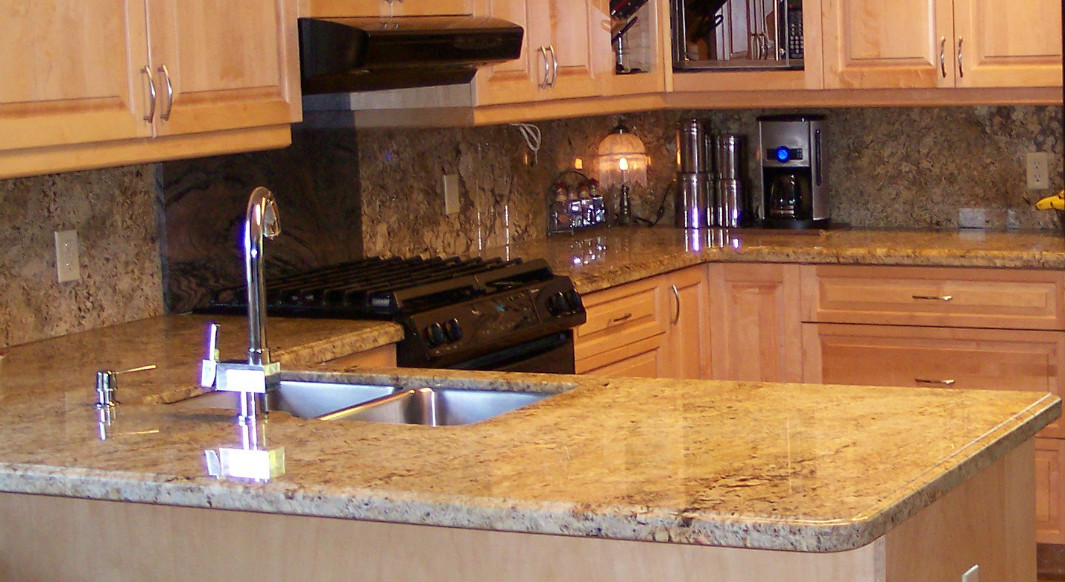 Golden Beach Granite with Ogee Edge Profile