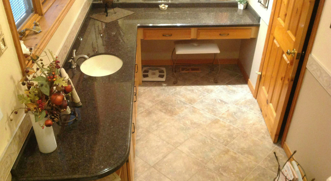 Cafe Imperial Granite with Ogee Edge Profile