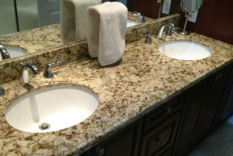Giallo Verona Granite with Ogee Edge Profile