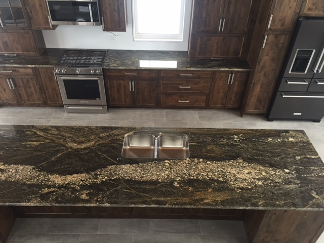Juperana Express Granite with Radius Edge Profile