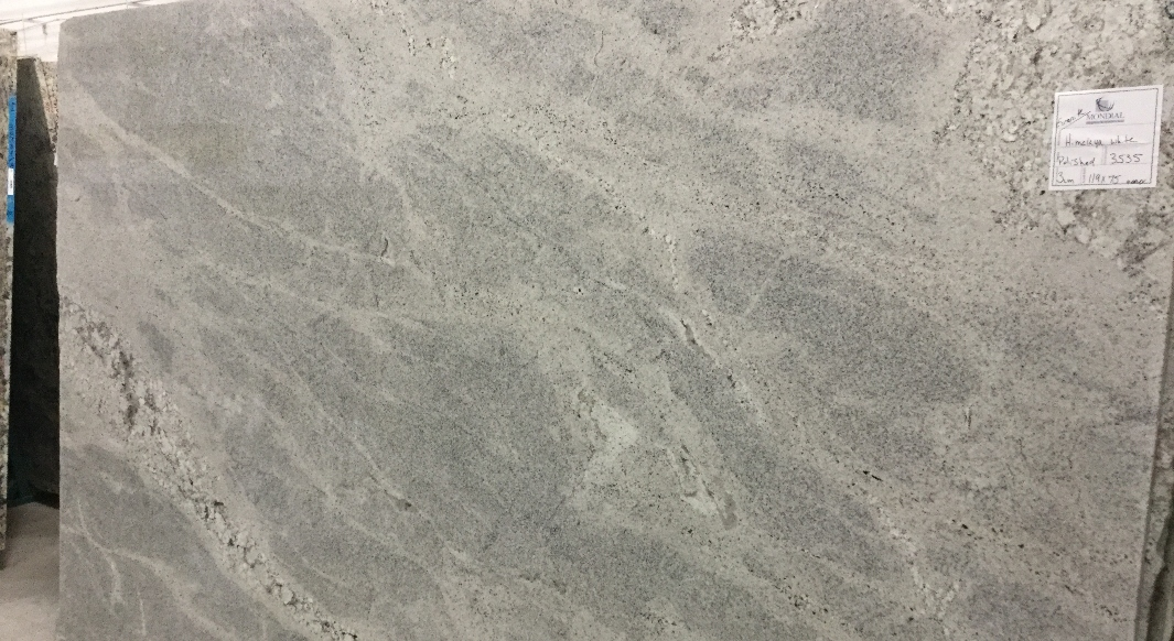 Himalayan White with Flat Eased Edge