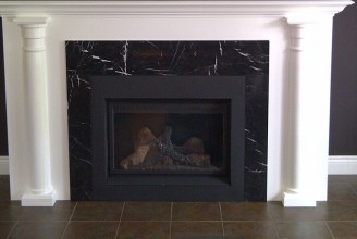 Nero Marquina Marble Fireplace Surround