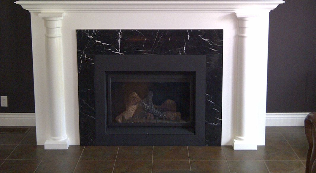 Nero Marquina Marble Fireplace Surround Northern Marble Granitenorthern Marble Granite