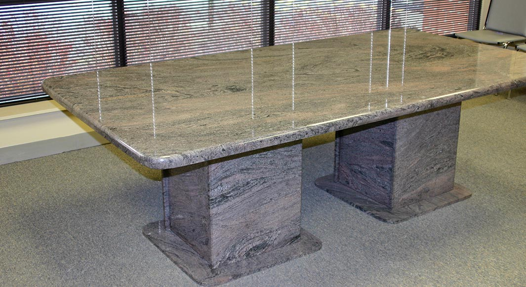 granite tables paradiso granite table waterfall edge profile and matching pedestal base northern marble 9470