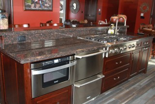 Tan Brown Granite - Ogee Edge Profile
