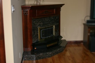 Tan Brown Granite Fireplace Hearth & Surround