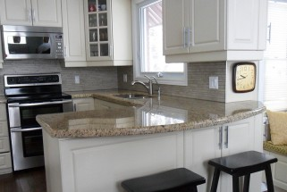 Giallo Ornamental Granite - Waterfall Edge Profile