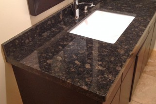 Suede Brown Granite - Flat Eased Edge Profile