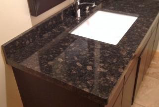 Suede Brown Granite - Flat Eased Edge Profile