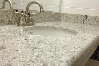 Bianco Romano Granite - Waterfall Edge Profile