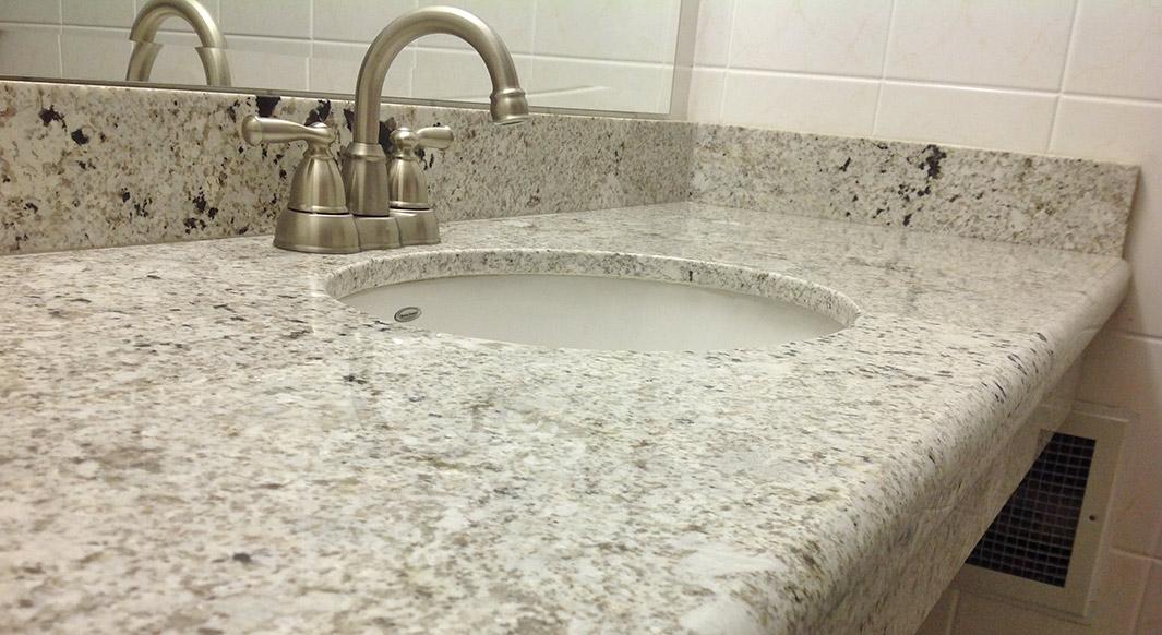 Bianco Romano Granite - Waterfall Edge Profile