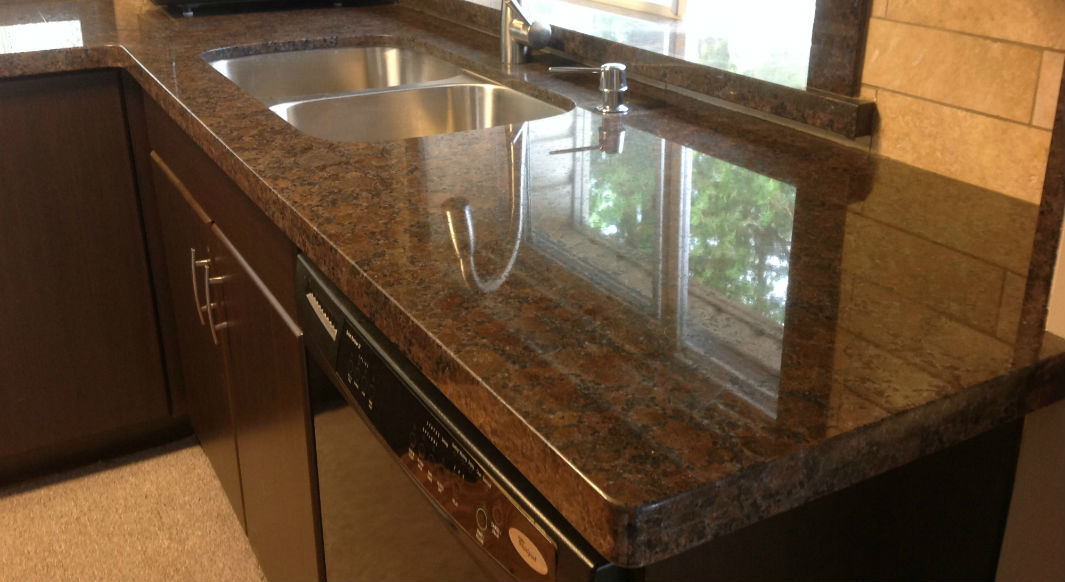 Coffee Brown Granite Flat Eased Edge Profile Northern Marble Granitenorthern Marble Granite