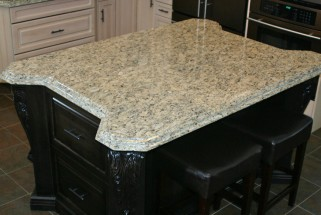 Santa Cecilia Granite - Stepped Ogee Edge Profile