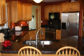Suede Brown with Full Height Backsplash
