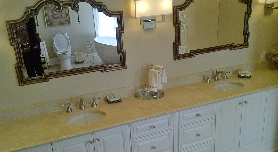 Limestone Vanity & Tub Top