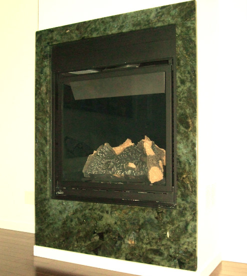 Labradorite Granite Fireplace Surround