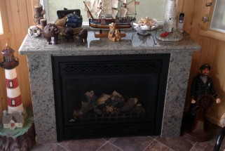 Caramello Ornamental Granite Fireplace Mantel and Surround