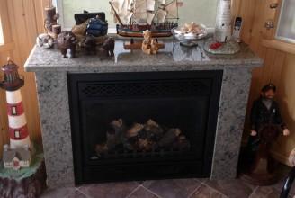 Caramello Ornamental Granite Fireplace Mantel and Surround