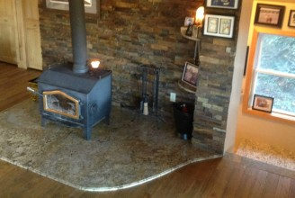 Golden Beach Granite Fireplace Hearth