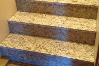 Giallo Ornamental Light Granite Stairs