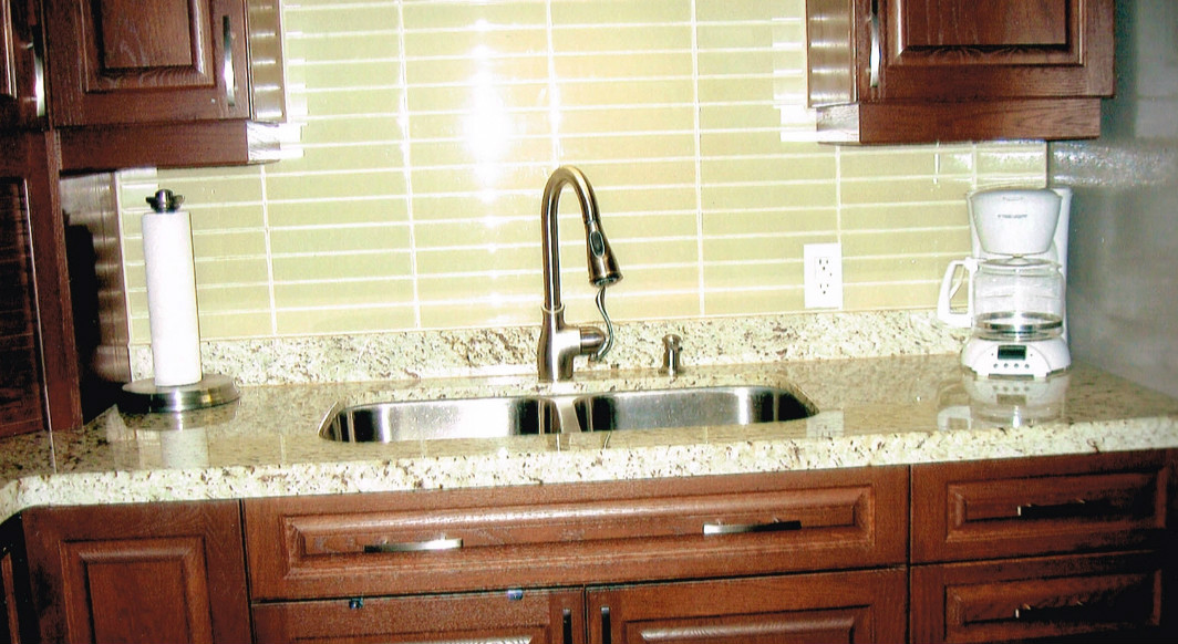 Giallo Ornamental Light Granite with Radius Edge Profile