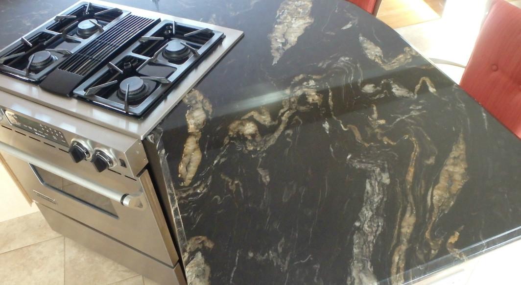 Titanium Granite with Ogee Edge Profile