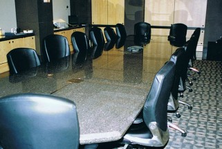 24 Foot Boardroom and Meeting Tables with Steel Inserts