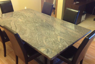 Paradiso Dining Room Table with Matching Pedestal Base and Bevel Edge Profile