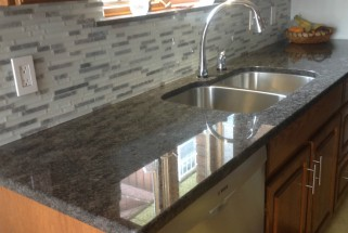 Steel Grey Granite with Radius Edge Profile
