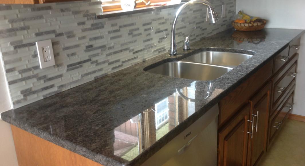 Steel Grey Granite with Radius Edge Profile